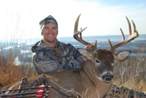 Jon's Buffalo County Whitetail kill with Rutting Ridge Outfitters.