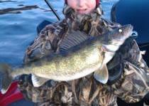 <p>Book your trip with Rutting Ridge Outfitters for you chance to get a slob walleye like this one...We have lodging too...</p>