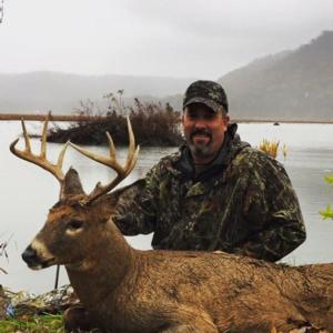 Len took this buck back to New Jersey with him that was shot with us in Rutting Ridge Outfitters.