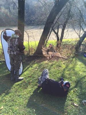 Photo shoot with Shane Indebro.  This is what happens when you shoot a buck at Rutting Ridge Outfitters in Buffalo County.  We will make you a celebrity.....
