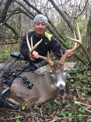 DOC does it again.  DOC had hunted with us for over 5 years and has numerous encounters with big deer.   Check out this big 8 pointer he shot in Rutting Ridge Outfitter Camp....