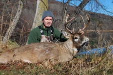Italy's Franceso first whitetail from Buffalo County