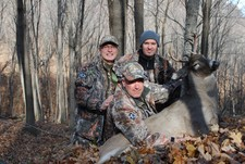 Italy's Group with Valerio's First Whitetail Kill from Buffalo County